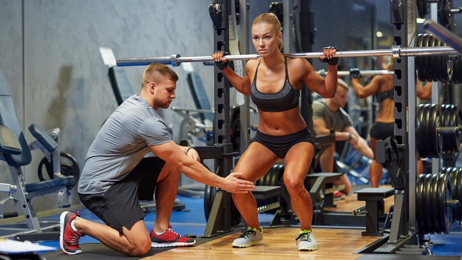 поддержка фитнес тренера