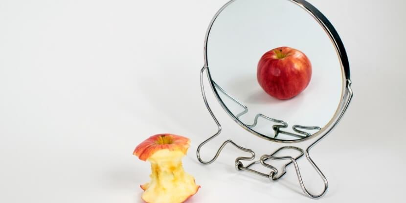 Огрызок-яблока-и-зеркало-курс-расстройства-пищевого-поведения-Академия-Wekllness-Consulting