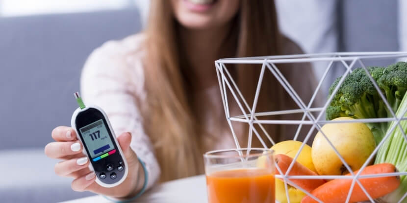 Глюкометр-и-полезные-продукты-школа-жизни-с-диабетом- Академии Wellness Consulting